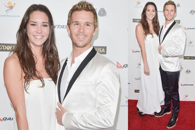 <i>True Blood</i> star Ryan Kwanten with his girlfriend