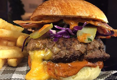 Rhonda's mountain burger