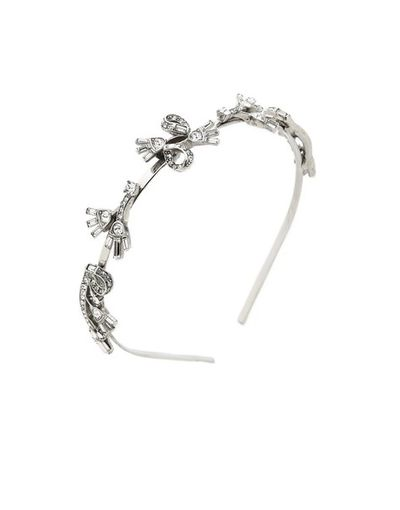 "<a href=""https://www.shopbop.com/floral-baguette-headband-oscar-renta/vp/v=1/1572109753.htm"" target=""_blank"">Oscar de la Renta crystal headband, $648.</a><br>"