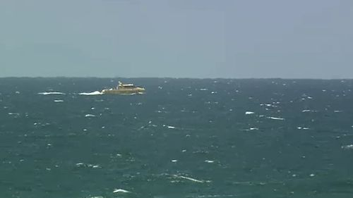 A search is underway off Fraser Island. (9NEWS)