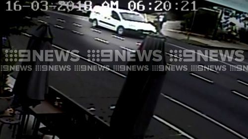 The victim confronted the thug, who then fled the scene. (9NEWS)