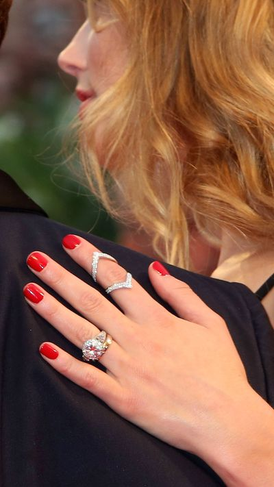 Amber Heard's rings at the <em>Black Mass</em> premiere.