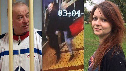 Former spy Sergie Skripal, left, was with his daughter, when poisoned. She is also fighting for life. Their last movements were caught on CCTV.
