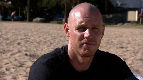 Shark attack survivor Paul de Gelder. (AAP)