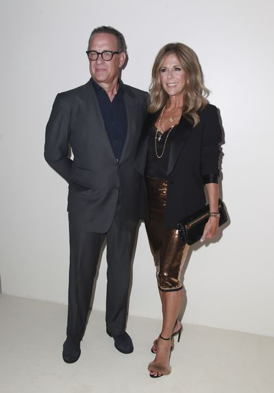 Actor Tom Hanks and wife Rita Wilson at Tom Ford's spring/summer 2019 collection for New York Fashion Week, September, 2018