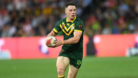 Cooper Cronk in action for the Kangaroos.
