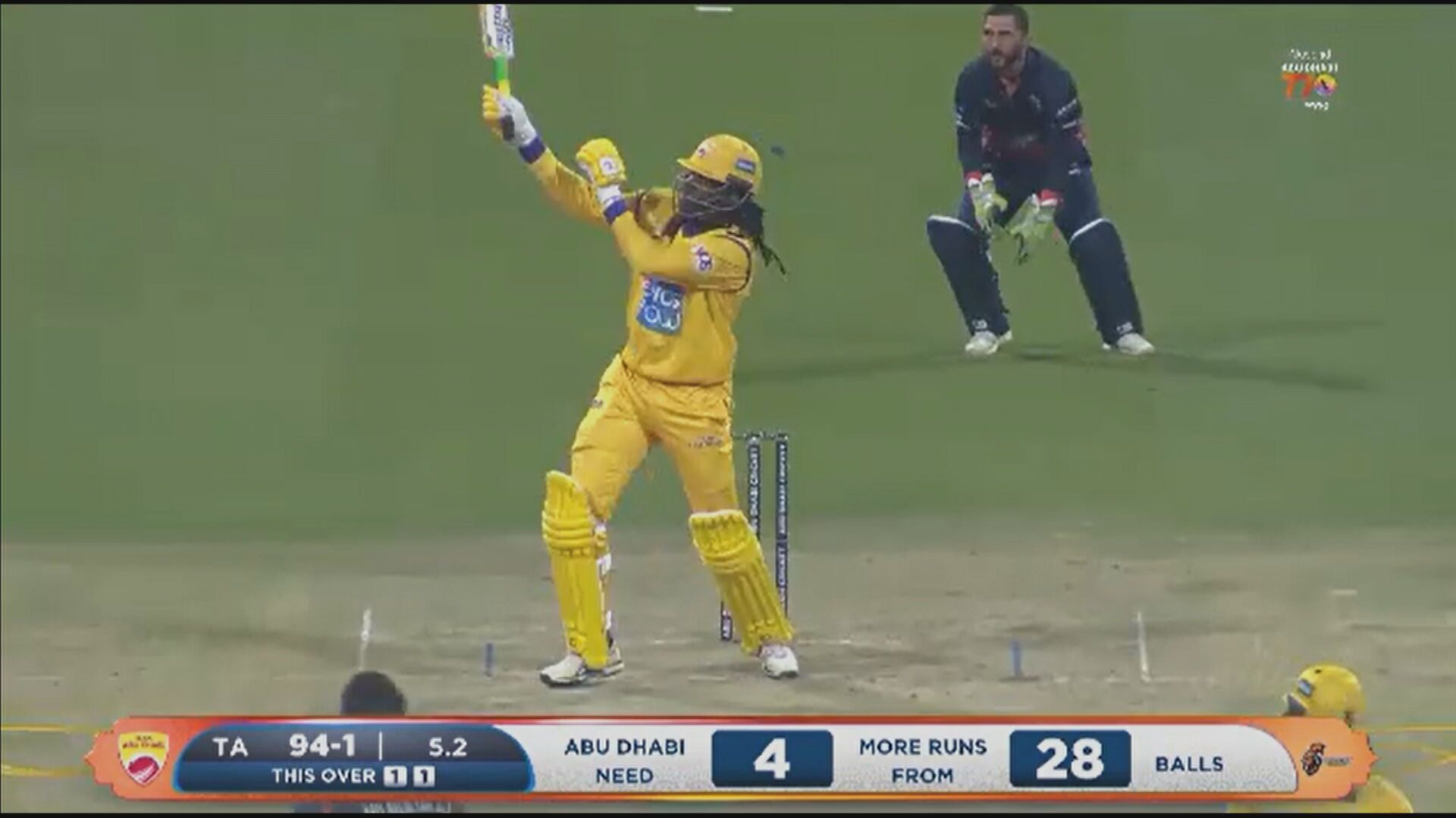 Chris Gayle goes bang.