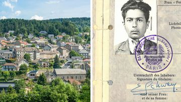 A man has bequeathed a fortune to a French village that saved him from the Nazis.
