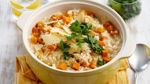 Roast pumpkin risotto for $6.60