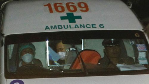 Four boys are in hospital after being freed from a flooded Thai cave. Picture: AAP