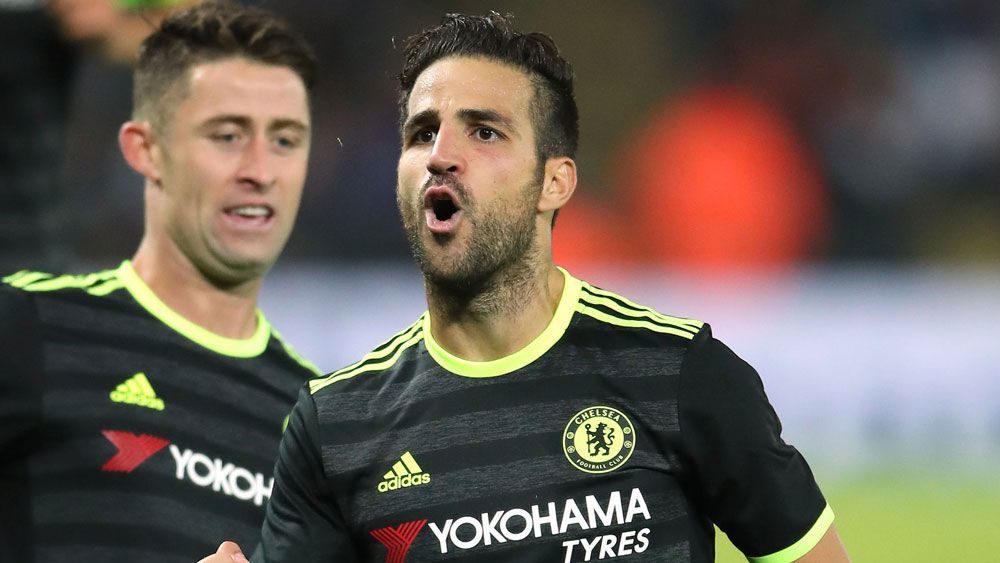 Cesc Fabregas came to the rescue for Chelsea in the League Cup. (AAP)