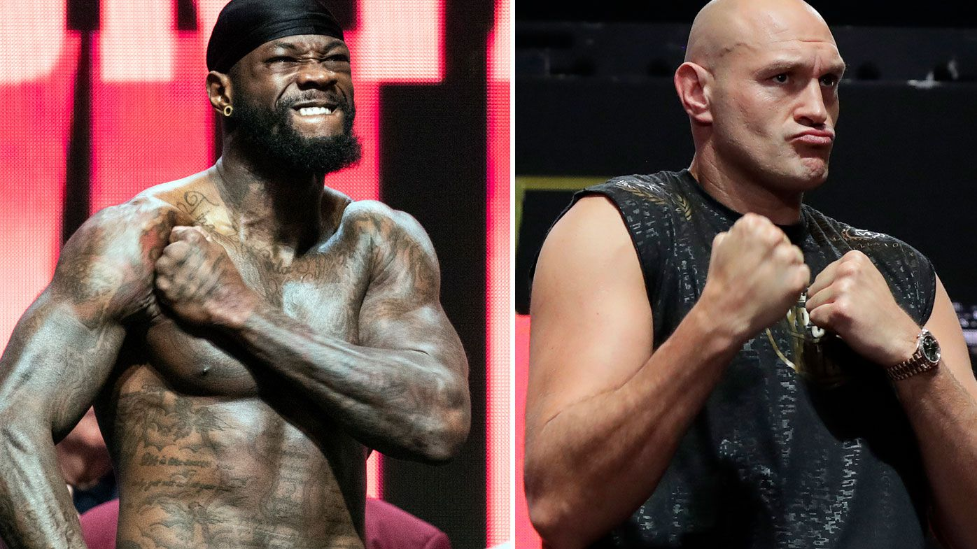 Wilder and Fury weigh-in