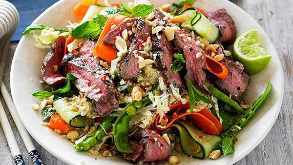 Vietnamese grilled beef salad