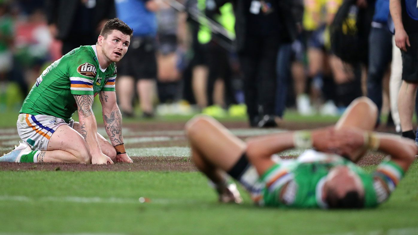 Canberra Raiders not 'robbed' by GF ref blunder, say Meninga and Sterling