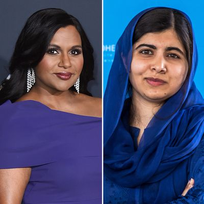 Mindy Kaling and Malala Yousafzai