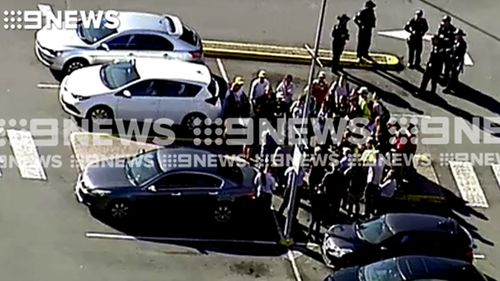 Shoppers were evacuated from the Brisbane mall.