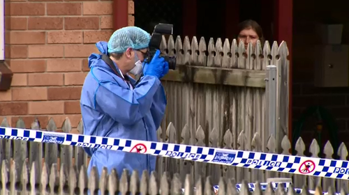 Police established a crime scene at a Wishart proerty after a stabbing victim took himself to hospital where he later died.