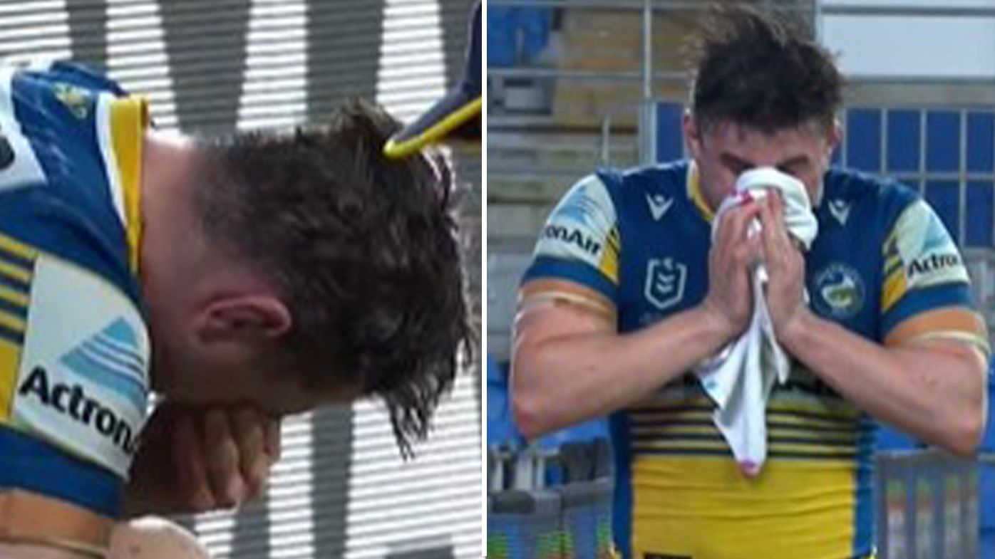 Eels' title hopes dealt monumental blow as 'inconsolable' Reed Mahoney suffers cruel injury