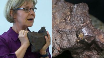 A rock that was used as a doorstop for decades at a farm in Michigan, US has been identified as a meteorite valued about US$100,000 (A$141,000).