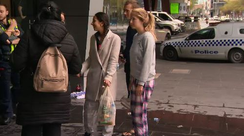 Guests have been left on the street with nothing but wet clothes. Picture: 9NEWS