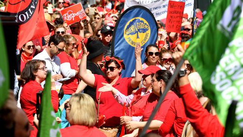 Teachers are striking over better pay and conditions.