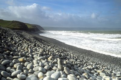 Westward Ho beach in North Devon