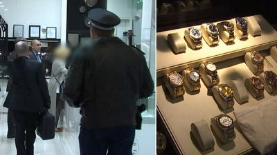 Police seize $3.5m in 'fraudulent' watches from bikie-linked store
