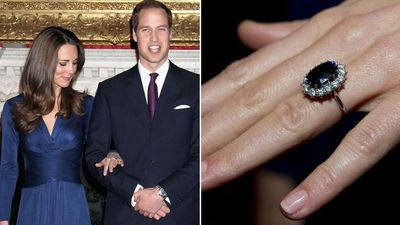 The Duchess of Cambridge's sapphire cluster ring