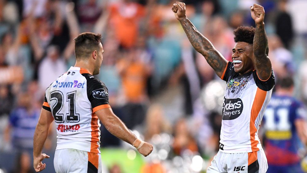 Wests Tigers halfback Luke Brooks leads 'Big Four' charge to victory over Bulldogs