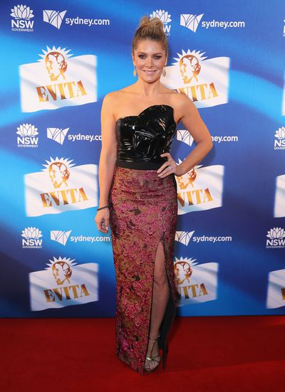 Natalie Bassingthwaighte at the premiere of <em>Evita</em>, Sydney Opera House.