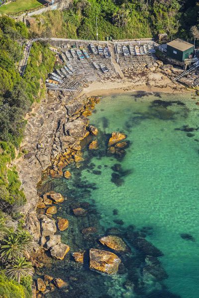 Aerial of Gordon's Bay, Coogee.