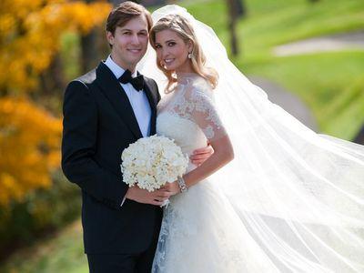 Ivanka Trump and Jared Kushner on their wedding day, 2009