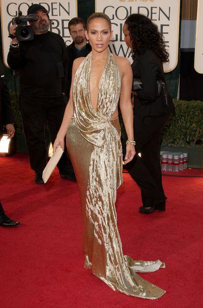 Jennifer Lopez wearingMarchesaat the 66th Annual Golden Globe Awards in Beverly Hills, January, 2009