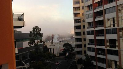 The Bureau of Meteorology said the fog should clear up later in the day. (Twitter - @Lizzie_Who)