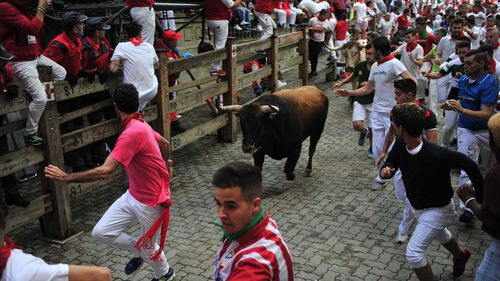 Americans among those gored in Spain's running of the bulls