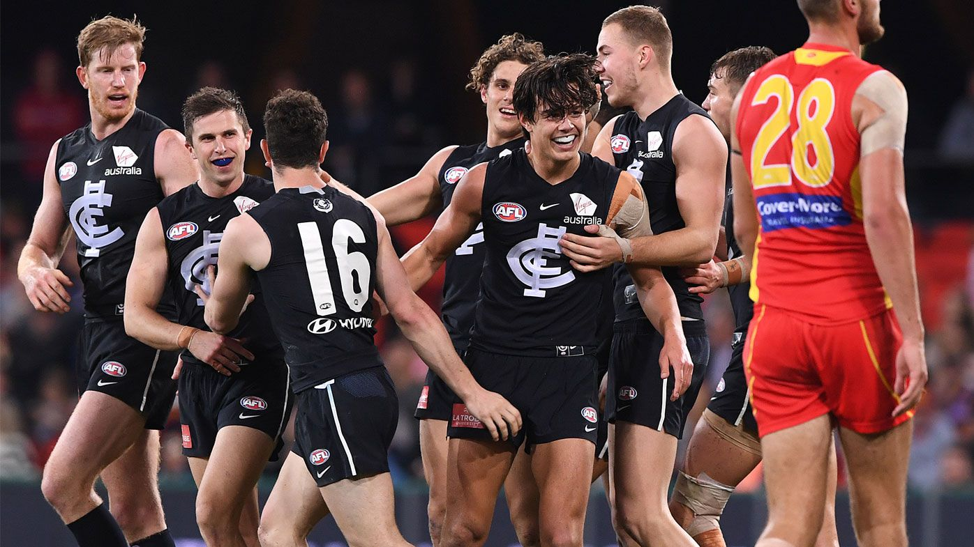 Blues thump sorry Suns for second AFL win