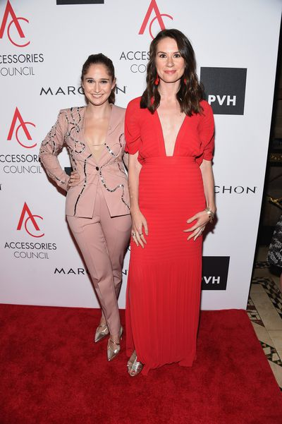Shoe designer Sarah Flint and Veronica Collins at the 2017 ACE Awards at Cipriani in New York.