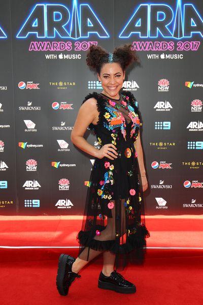 Radio host Ash Londonat the 2017 ARIA Awards