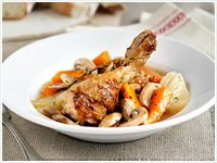 Chicken and mushroom stew
