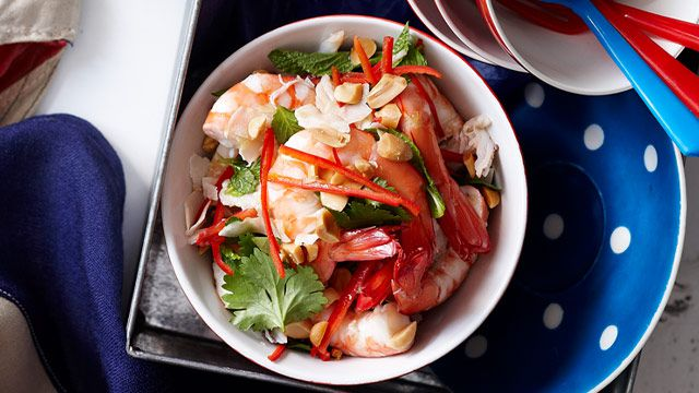 Shellfish coconut salad