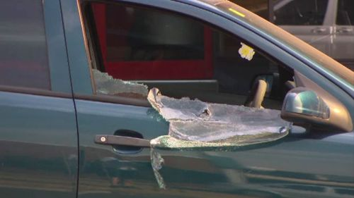 Police were forced to break into the car. (9NEWS)