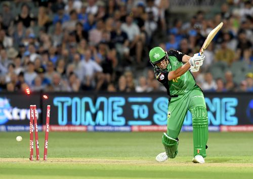 A fight erupted in the crowded grounds of Adelaide Oval during last night's Big Bash match.