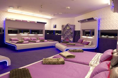 """The <i>Big Brother</i> bedroom, complete with pink sheets. Will love be in the air this season?<br/><br/><b><a href=""""http://www.bigbrother.com.au"""" target=""""_blank"""">Visit the <i>Big Brother</i> official website</a></b>"""