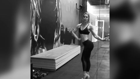 Frances Abbott trains as a fitness model