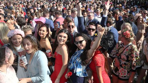 The punters packed out Flemington from 8.30am. (AAP)