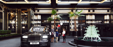 Savoy London grand drive-way