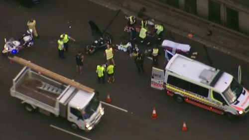 Emergency services attended the scene. (9NEWS)