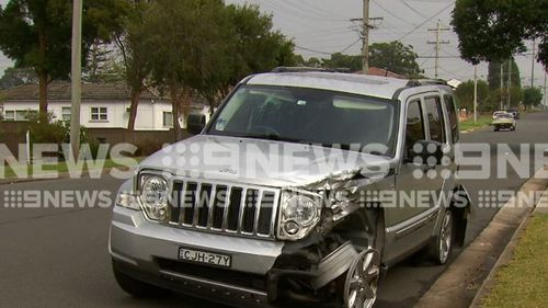 Witnesses saw Tongan Sam's Jeep allegedly hit two parked cars in Merrylands before continuing on to another street and colliding with another vehicle.