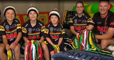 Penn family Penrith Panthers supporters