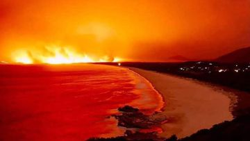 Charles Hamey Lookout at Camden Head, near Port Macquarie during the NSW bushfires.
